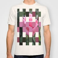 Pink Roses in Anzures 6 Art Rectangles 15 T-shirt by Christopher Johnson