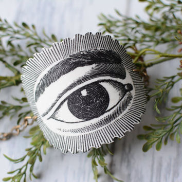 All Seeing Eye Image Cuff Bracelet - Tattoo Bracelet - Cuff Bracelet - Shrink Plastic Cuff