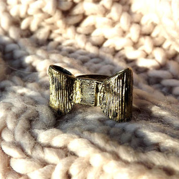 Bow ring, Bow Jewelry, Gifts for Her, Cute Jewelry, Bowknot Bow Ring, Bow, Metal ring