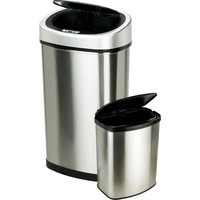 Nine Stars 13-Gallon Slim / 2-Gallon Trash Can Combo Set, Stainless Steel - Walmart.com