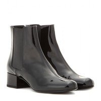saint laurent - babies patent leather chelsea boots
