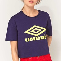 Umbro Blue Cropped Logo T-Shirt | Urban Outfitters
