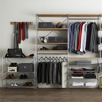 MAX Closet Chrome Modular Shelving Set