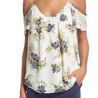 Joie 'Aldorlee B' Print Cold Shoulder Top | Nordstrom