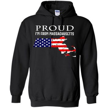 Proud of Massachusetts-US flag Independence day Tshirt