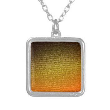 Honey Comb Silver Plated Necklace