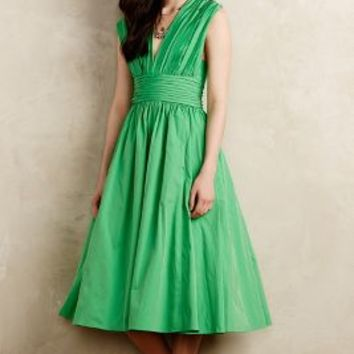Parted Emerald Dress by Tracy Reese Green