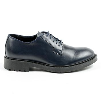Andrew Charles Mens Lace Up Shoe Blue E Jimi