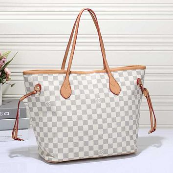 Louis Vuitton LV Women Shopping Bag Leather Tote Satchel Shoulder Bag Handbag Crossbody