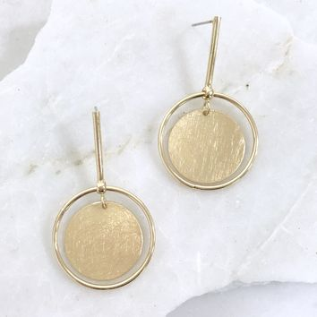 Drip Drop Earrings in Gold