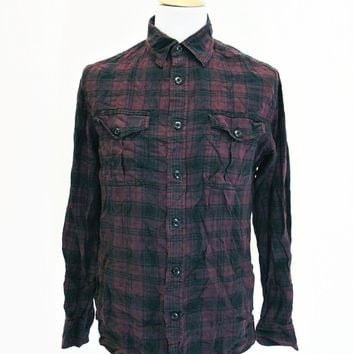 Retro CONVERSE Check Designer Plaid Lumberjack Shirt M