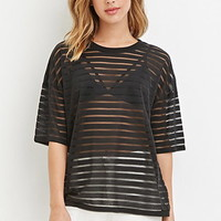 Boxy Shadow-Stripe Top