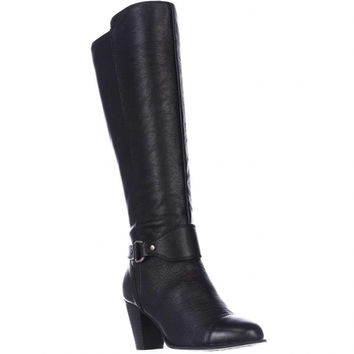 Easy Spirit Carlsy Engineer Wedge Tall Boots - Black