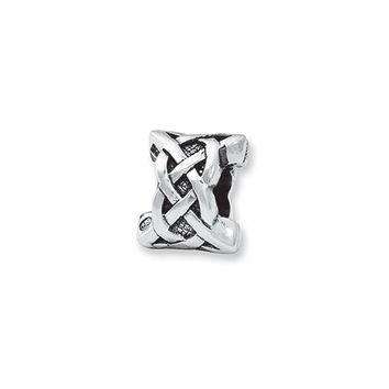 Celtic Knot Charm in Silver for 3mm Charm Bracelets