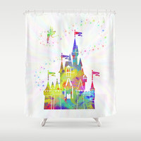 Castle of Magic Kingdom  Shower Curtain by Miss L In Art
