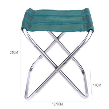 Aluminum Alloy Oxford Cloth Folding Fishing Chair Portable Outdoor Foldable Sitting Stool Camping Fishing Picnic Seat peche