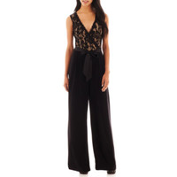 Bisou Bisou® Sleeveless Lace Jumpsuit