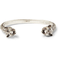 Saint Laurent - Lynx-Head Engraved Silver Cuff | MR PORTER