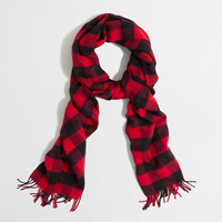 FACTORY BUFFALO PLAID SCARF