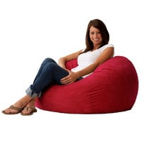 Red Suede Soft Comfortable Bean Bag Chair - Size Medium