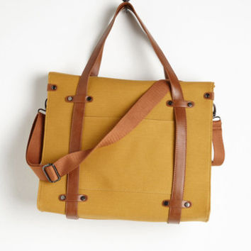 Travel Camp Director Tote in Camel Size NS by ModCloth