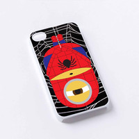 despicable-me-minions spiderman iPhone 4/4S, 5/5S, 5C,6,6plus,and Samsung s3,s4,s5,s6