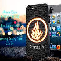 Divergent dauntless the brave Samsung Galaxy S3/ S4 case, iPhone 4/4S / 5/ 5s/ 5c case, iPod Touch 4 / 5 case