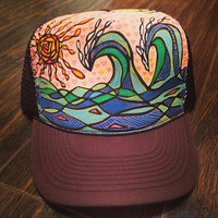 Handpainted Hat by Roupoli