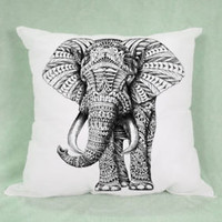 Hot Elephant Aztec High Quality Pillow Case Cushion 16 18 20 2 Side Cover