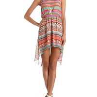 Tribal Chiffon Hi-Low Dress: Charlotte Russe