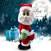 2018 Funny Christmas Electric Twerk Santa Claus Toy Music Dancing Doll Xmas Gifts for kids Party New Year Christmas Decoration
