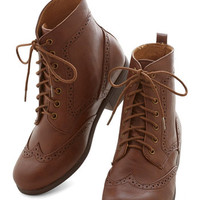 ModCloth Menswear Inspired Evening Exploring Boot in Chestnut