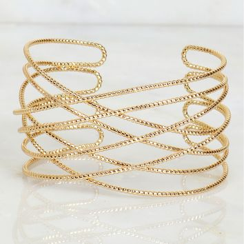 The Right Path Cuff Gold