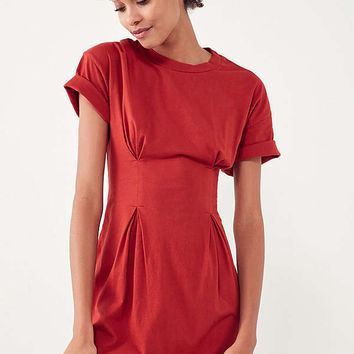 Silence + Noise Seamed Waist T-Shirt Dress | Urban Outfitters