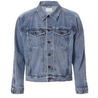 Indie Designs Fear of God Inspired Denim Raglan Trucker Jacket