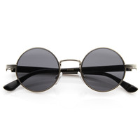 Vintage Steampunk Fashion Small Round Sunglasses 8613