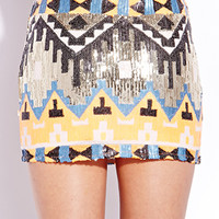 Standout Sequined Mini Skirt