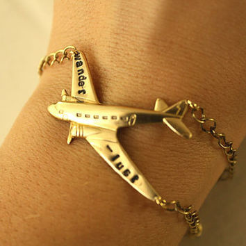 Gold wanderlust  BRACELET by iadornu on Etsy