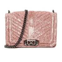 Chevron Quilted Small Love Cross Body Bag