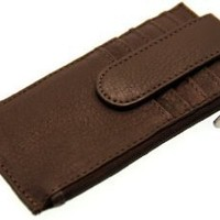 Paul & Taylor Genuine Leather Credit Card Case With Security Snap $14.75