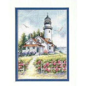 top quality lovely counted cross stitch kit Scenic Lighthouse beautiful house Dimensions 65057
