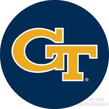 "Gerogia Tech Yellow Jackets RR 4"" Round Vinyl Magnet Auto Home University of"