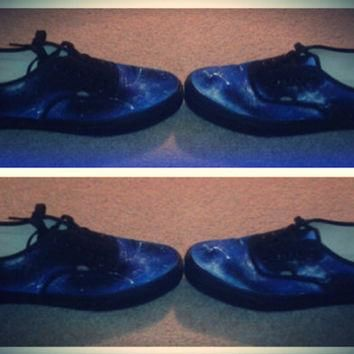 Galaxy Vans Shoes by galazyjane on Etsy