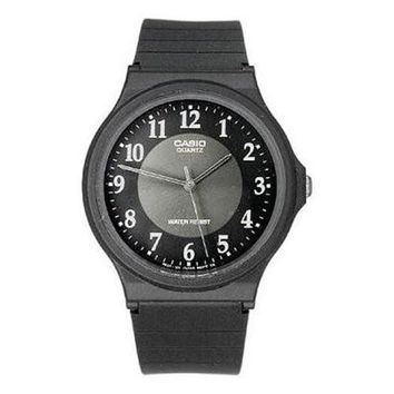 Casio Mens Watch with Black Rubber Band