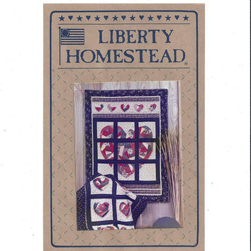 Liberty Homestead Crazy Quilt Heart Pattern 34, Pieced Heart Collection, Blue Whale Designs, Glenda Carr, From 1989, Vintage Pattern, UNCUT