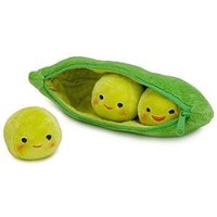 Disney Toy Story 3 Peas-in-a-Pod Plush Toy -- 8 Green