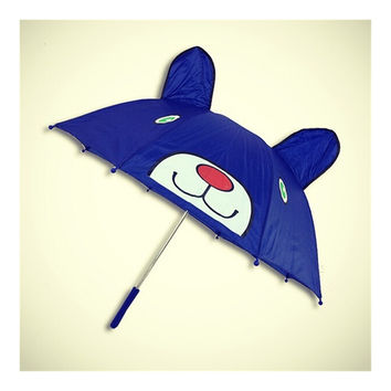 Cute cartoon Animal Umbrella For Children Kids ears straight handle