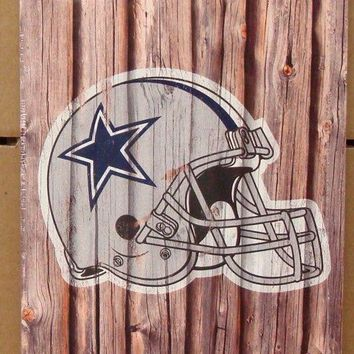 "DALLAS COWBOYS FAN CAVE WOOD SIGN 6""X12'' BRAND NEW WINCRAFT"