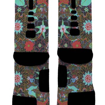 Crazy Floral Custom Nike Elites