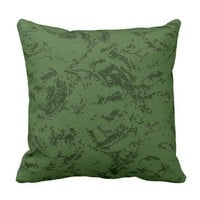 Deep Green Ornament Throw Pillow